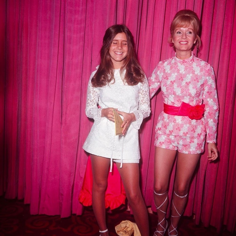 Debbie Reynolds and Carrie Fisher, 1972