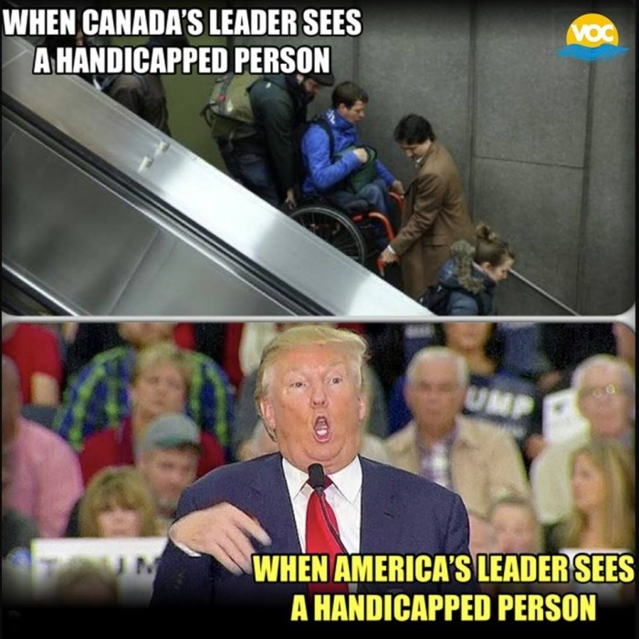 I know Trudeau is no angel but he's a darn sight closer than most Western leaders