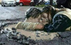 Not saying the potholes round her are bad but …..