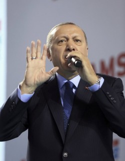Turkey's president calls anti-war students terrorists