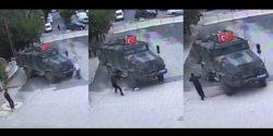 Askeri aracın 85 yaşındaki kadını nasıl ezdiğinin görüntüleri ortaya çıktı – Gündem &#8211 ...