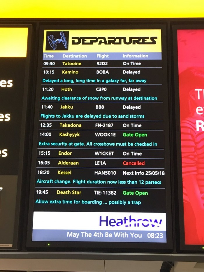 This was NOT photoshopped, way to go Heathrow airport.