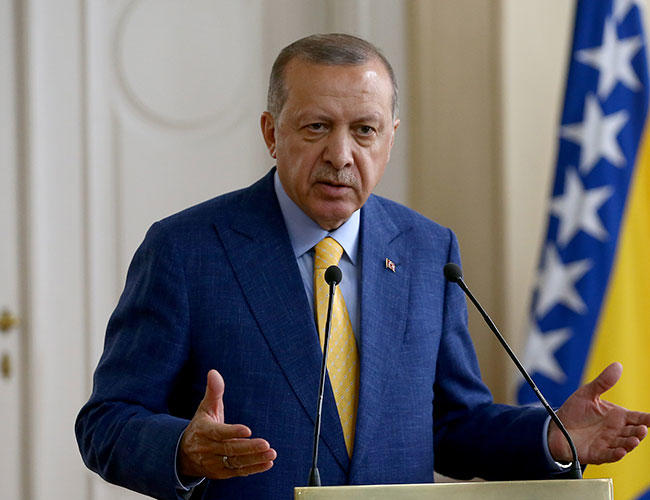 Intelligence agency informed me of assassination plot: Erdoğan in Sarajevo