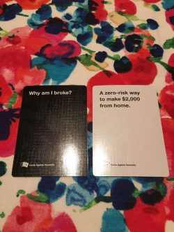 Cards against humanity sums up why so many people are broke