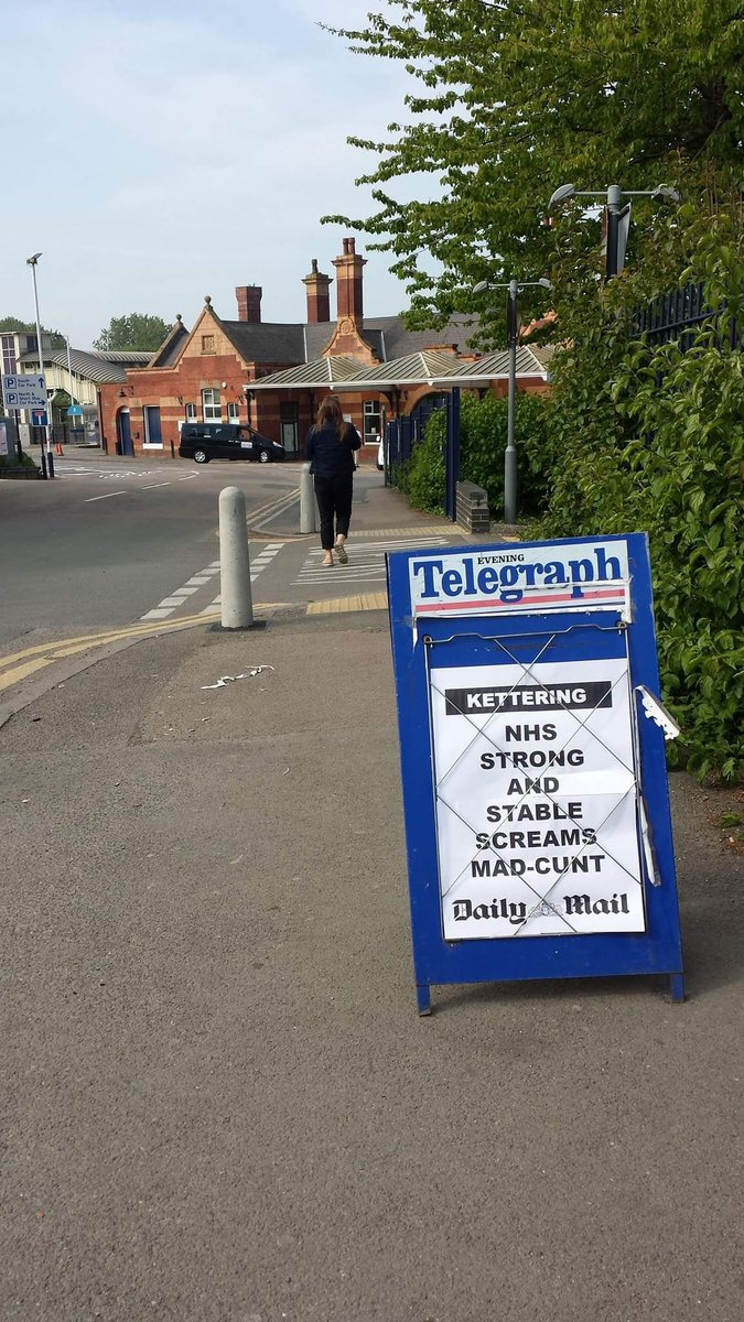 People are sticking up fake newspaper headlines in Kettering and it's bloody great The Poke