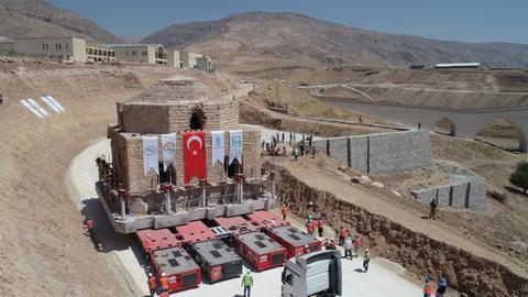 Turkey relocates historical hamam