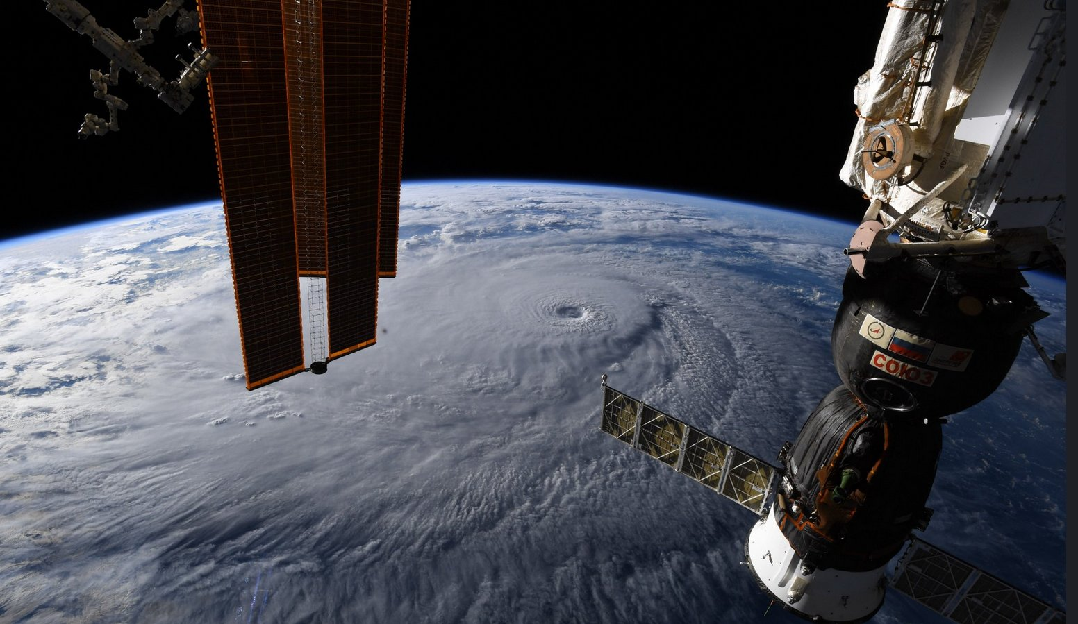 An incredible image of Hurricane Lane taken from the International Space Station the other day