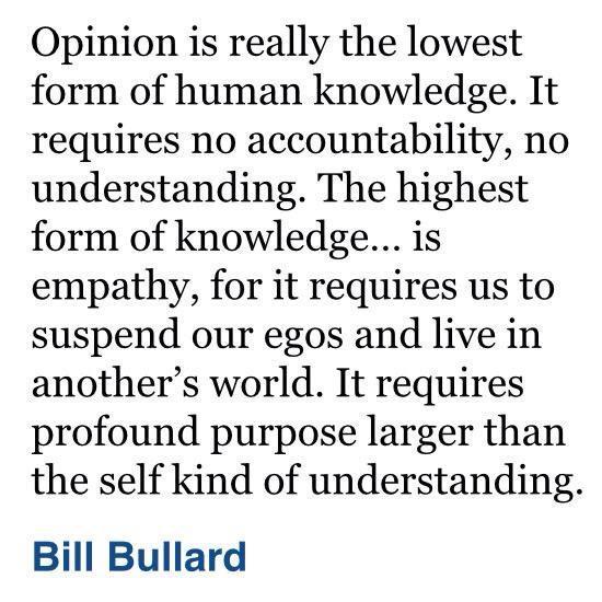 Opinion, empathy