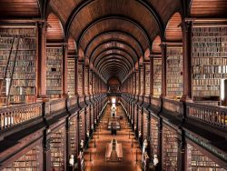 The long room at Trinity college Library, Dublin