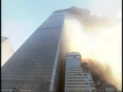 Newly restored HD 60FPS footage shortly after the collapse of the South Tower of the World Trade ...