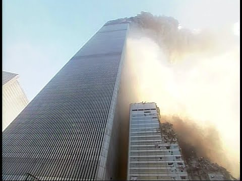 Newly restored HD 60FPS footage shortly after the collapse of the South Tower of the World Trade Centre on 9/11.