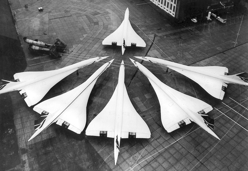 The British Concorde fleet in one picture, 1986