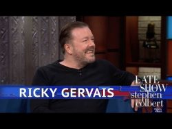 Ricky Gervais and Stephen Colbert had a discussion about atheism on The Late Show