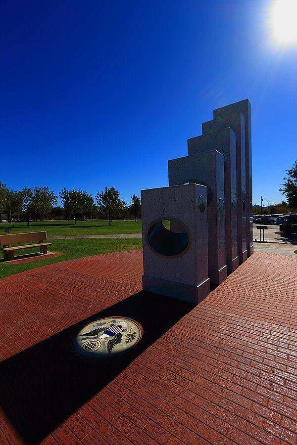 At exactly 11:11 a.m. every Veteran's Day (Nov. 11), the sun aligns perfectly with the Anthem Ve ...