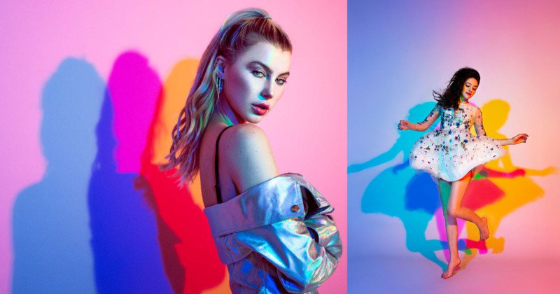 Shooting Portraits with Colored Shadows