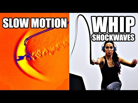 How does a whip break the sound barrier?
