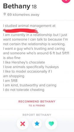 Stay classy Bethany