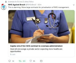 Capita wins £1bn NHS contract to oversee administration