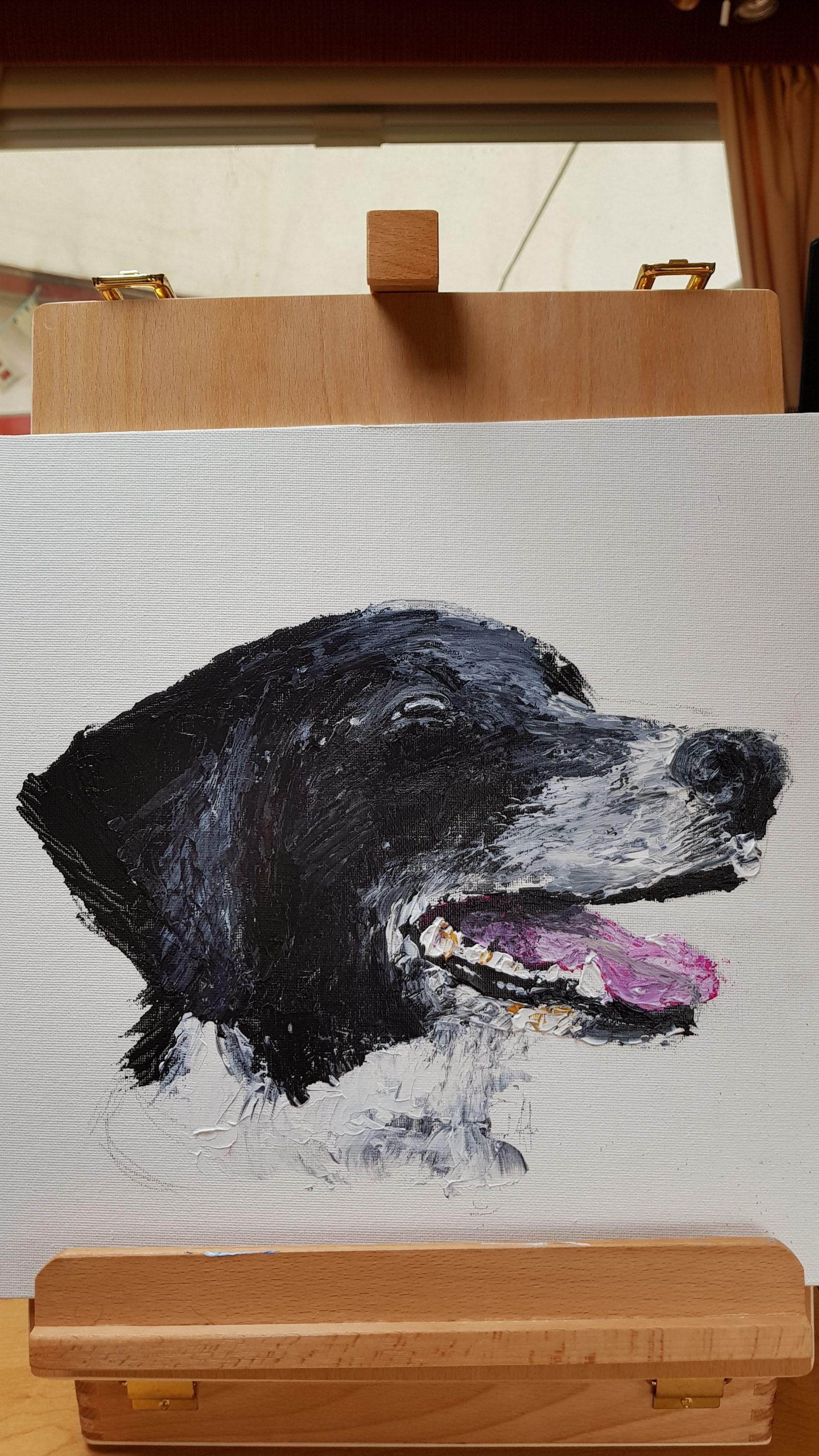 not too unhappy with my Sam painting