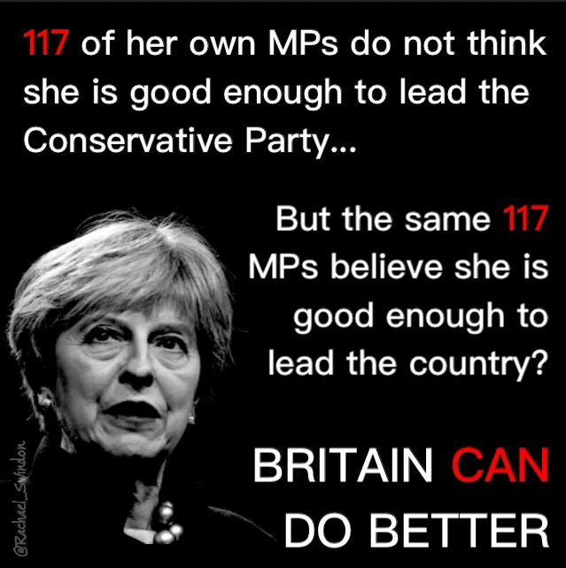 """Sadly """"Britain"""" voted this useless parasite in (under a completely undemocratic FPTP ..."""
