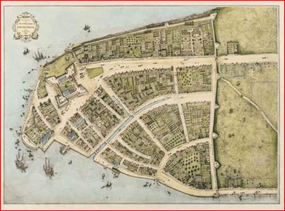 In the 1640's the Dutch inhabitants of New Amsterdam built a 12′ wall to keep the ba ...