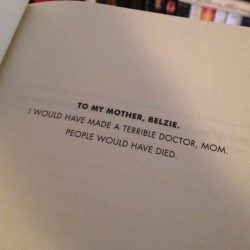 Best book dedication ever
