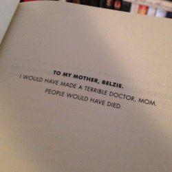 Best book dedication ever