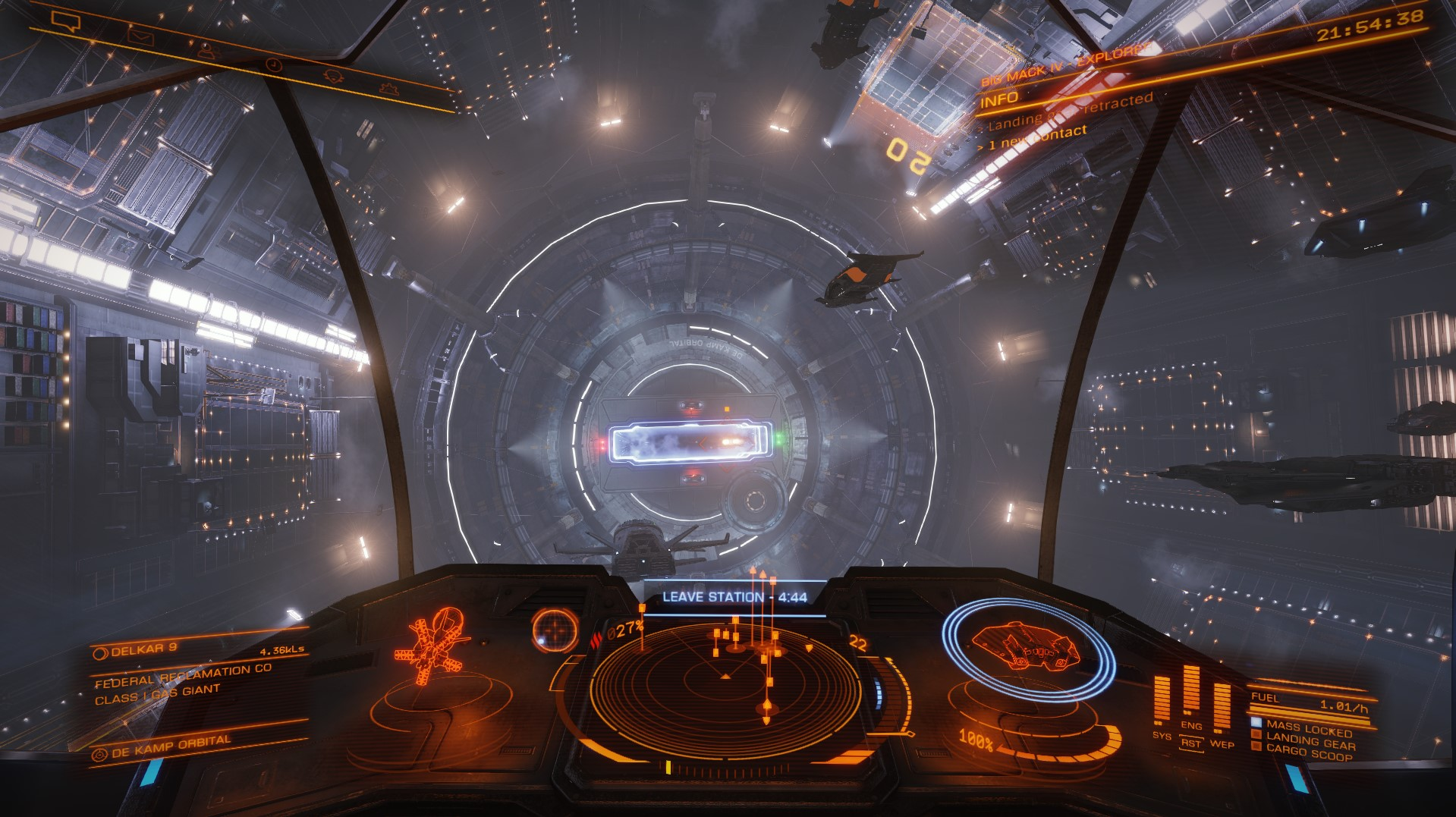 Rush hour in the Delkar system, 8 of us waiting to leave