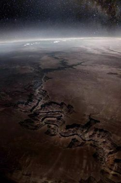The Grand Canyon from the edge of space