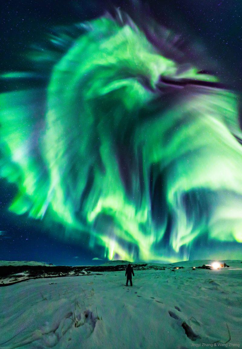 Dragon Aurora over Iceland