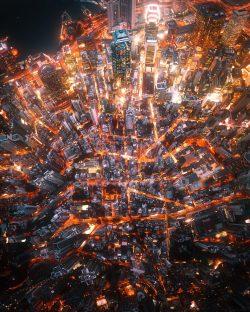 Fiery streets of Hong Kong