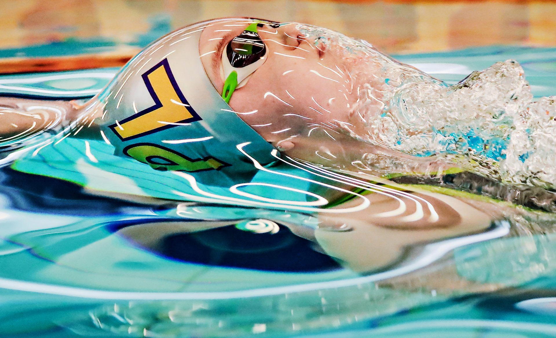 Mezmerising photo of swimmer Honey Osrin from Plymouth as she comes up for air during the Women& ...