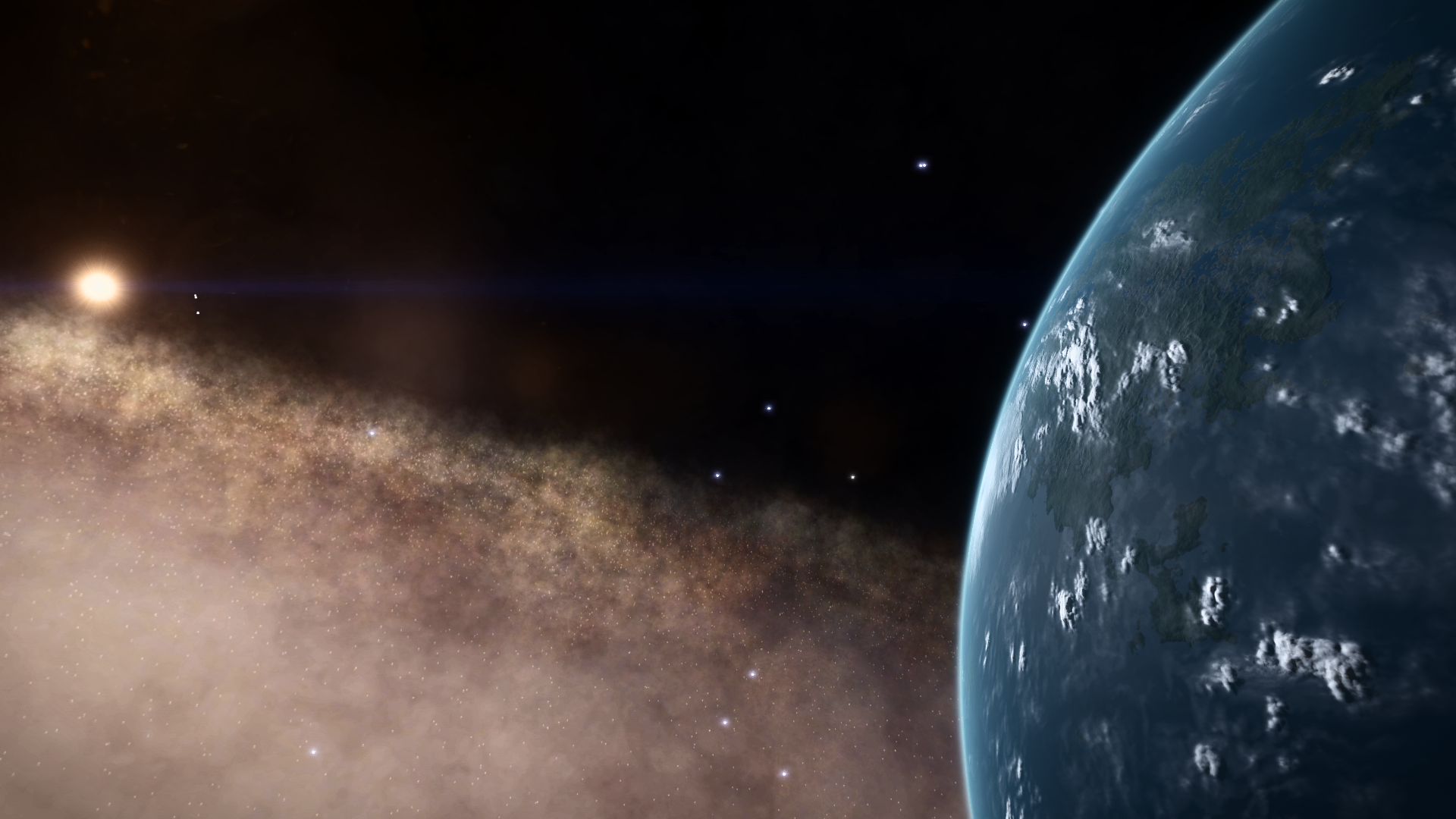 The world at the top of the galaxy