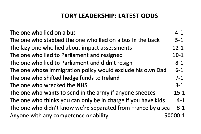 Sadly very true, the state of UK politics