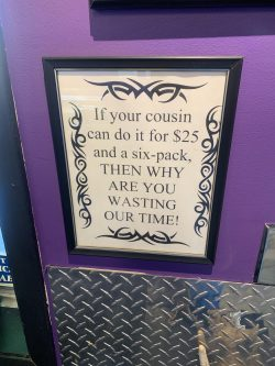 I need to print this out too, not just for this tattoo parlour