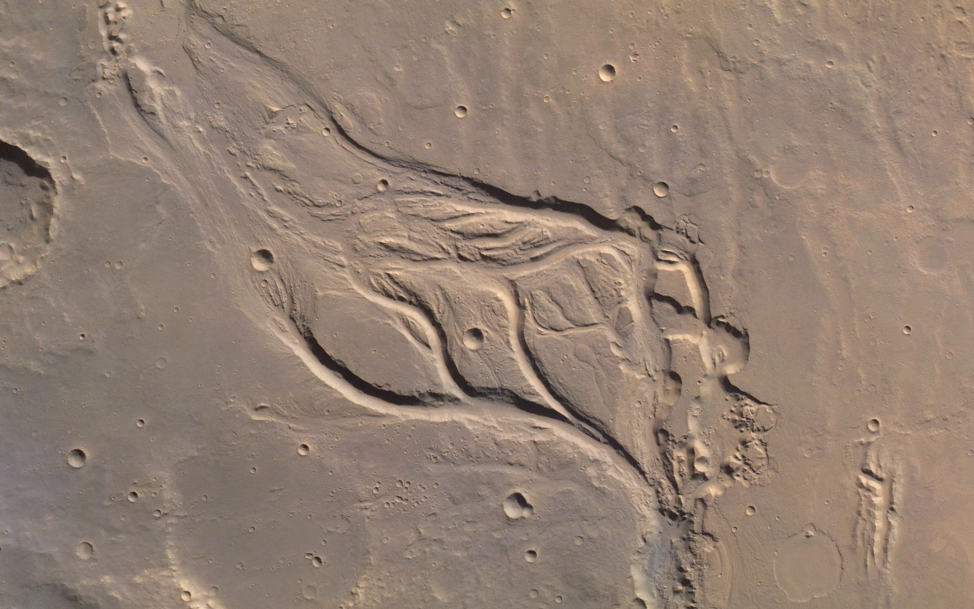 Martian outflow channels at Aurorae Chaos. An outflow from an ancient martian sea