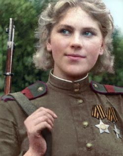 Roza Shanina- WW2 Soviet Sniper with 59 confirmed kills before being killed at age 20