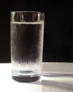 Glass of Water, Emma May Riley, Oil on canvas, 2013