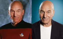 Patrick Stewart in 1990 and 2019  He's found the fountain of youth