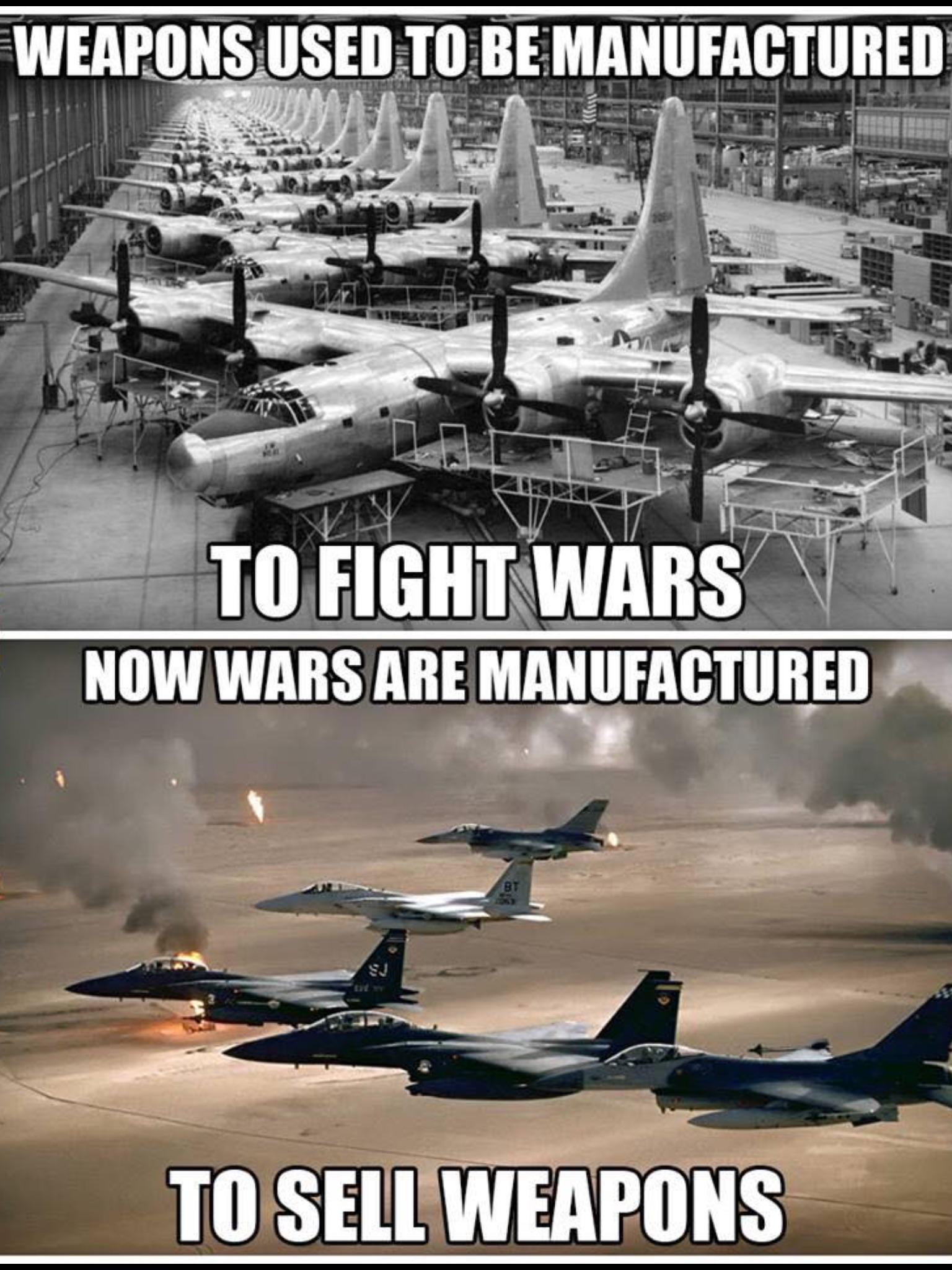 Sad truth of the military industrial complex