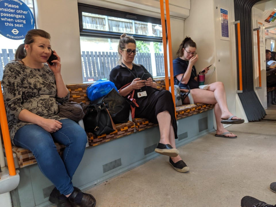 I've heard of man spreading, not quite sure what to call this though (all other seats taken)