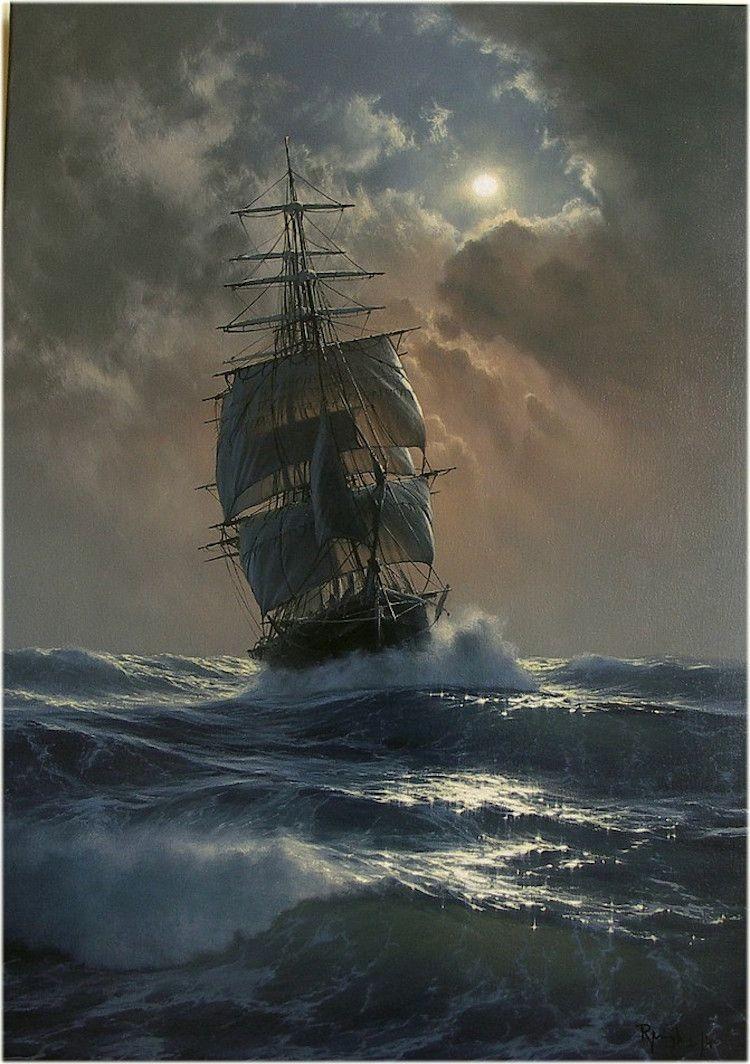 The ship,Marek Ruzyk, Oil, 2017