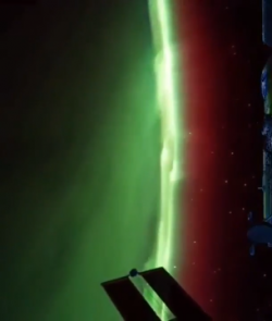 The Northern Lights as seen from the ISS