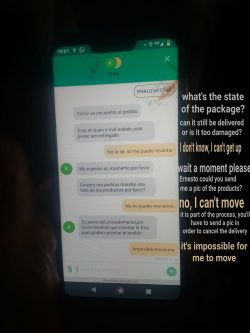 A pizza delivery man was hit by a car while on the job, this is the text chat with his company a ...