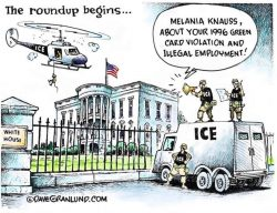 Melania overstayed her visa, had an anchor baby and brought her family over through chain migration.