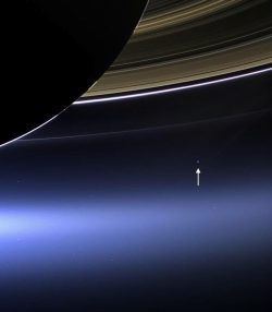 This is what Earth looks like from 1.5 billion kilometers away; the Cassini spacecraft spots a p ...