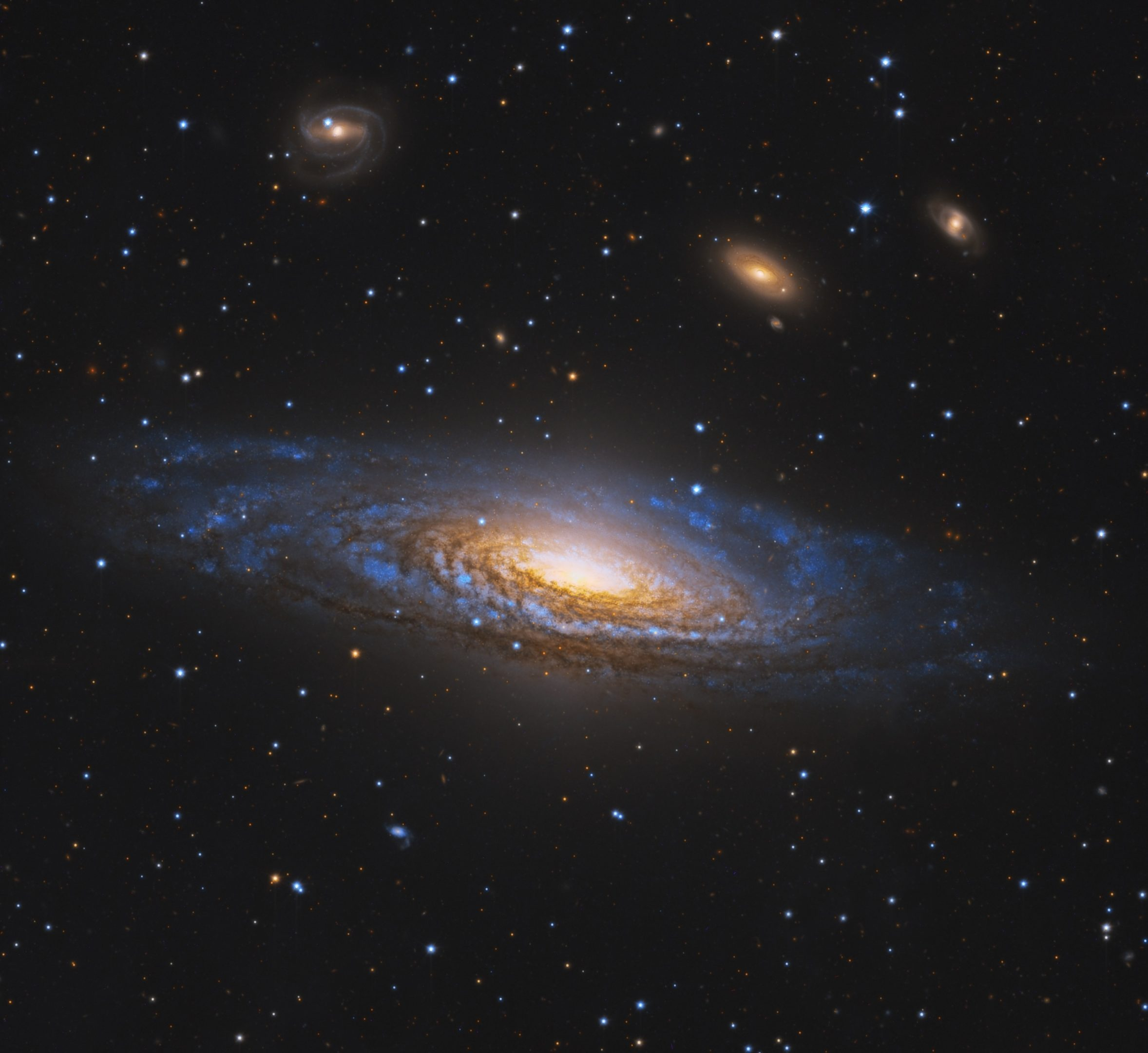Image of the Deer Lick Group – a cluster of galaxies located over 50,000,000 light years a ...