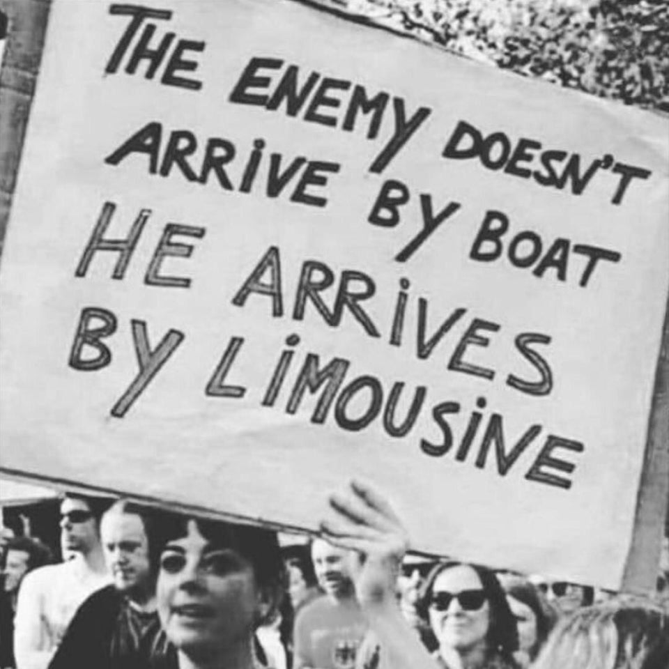 The enemy doesn't arrive by boat He arrives by limousine