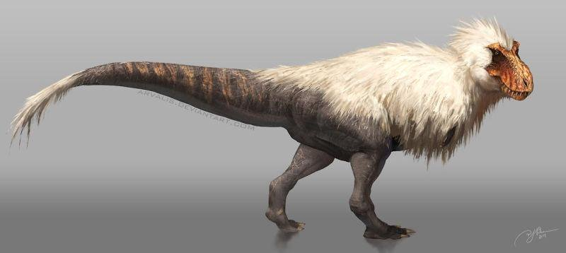 No we know the Dinos had feathers I can't decide if the T-Rex looks cute or terrifying