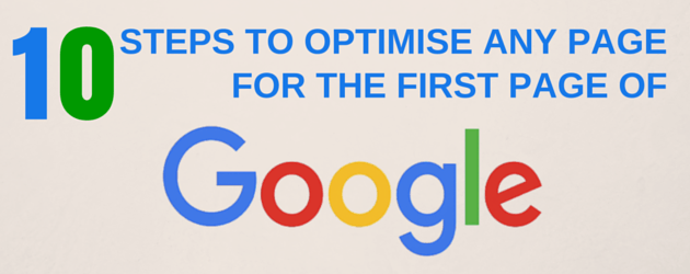 The First Page of Google and How I Get my Clients There